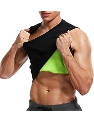 b2d8e17c433d MISS MOLY Chaleco Sauna Shaper para Hombres Neopreno Camiseta Vest de Sudoración  Faja Reductora Adelgazante Abdomen