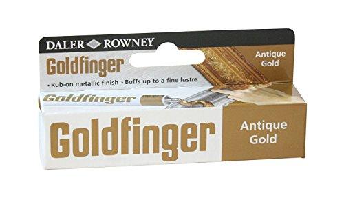 Daler-Rowney 86650005 - Goldfinger Veredelungsfarbe Antikgold, 22 ml (Bilderrahmen Abalone)
