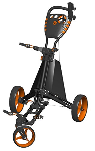 Spin ES Golf Produkte Easy Drive Golf Push Cart, schwarz/orange