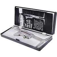 Zohong Weld - Regla de inspección de soldadura con costura de soldadura Ulnar, herramienta de medición de soldadura portátil