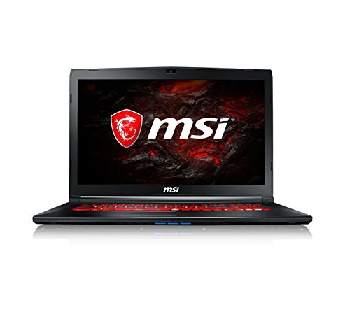 MSI GL72M 7RDX 2073UK 17.3-Inch Gaming Laptop - (Black) (Intel Core i5-7300HQ, 8 GB RAM, 1 GB SSD Plus 128 GB HDD, GeForce GTX 1050Ti, Windows 10 Home)