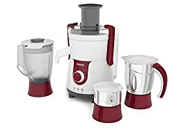 Philips HL7715/00 700 Watts Juicer Mixer Grinder - 3 Jars - Viva Collection - Free One 3W Riybro LED Bulb