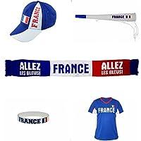Deportes Deportes de Equipo Fan Set FR 003Taberna Paquete de fútbol, Color Azul/Blanco, 37.5x 24x 11cm