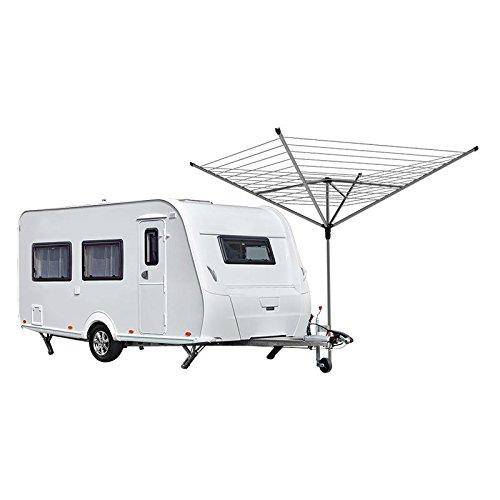 Halterung für Deichsel Stützräder Klemmhalter für Wäschespinne oder SAT Antenne Mast, Wohnwagen Stützradhalter Camping etc