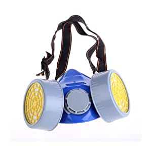 Double Cartridges Anti-Dust Paint Respirator Mask for Industrial Gas Chemical Painting Use