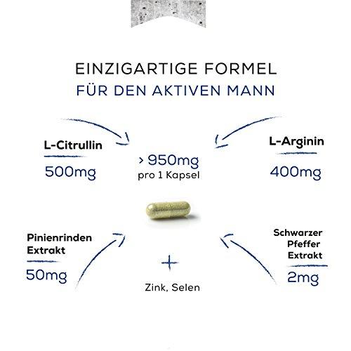 Premium Alternative zu Potenzmittel | Experten Markenprodukt günstig mit L-Citrullin und Pinienrindenextrakt | für den langfristigen Erfolg | Keine Viagra Sex Pille | Performance, Testosteron, Sperma