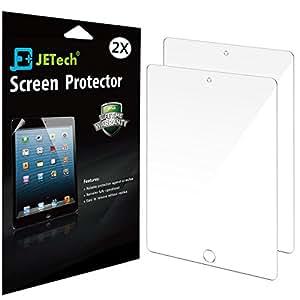 iPad Mini Screen Protector, JETech 2-Pack Screen Protector Film for Apple iPad Mini 1/2/3 All Models, Bubble Free Installation, Anti-Fingerprint, Retail Package (HD Clear)