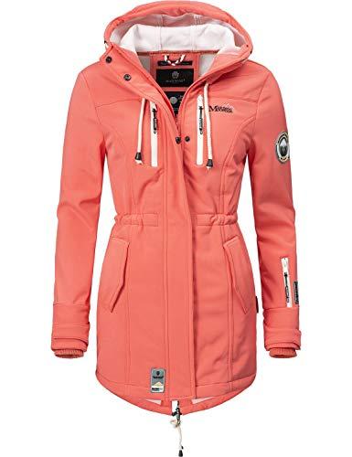 Marikoo Mountain Damen Softshell-Jacke Outdoorjacke Zimtzicke Coral Gr. L