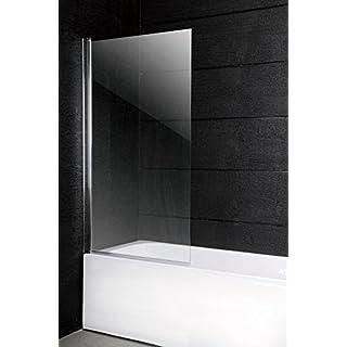 150 x 100 cm Badewannen Faltwand Duschwand Glaswand Duschabtrennung Glas 6 mm