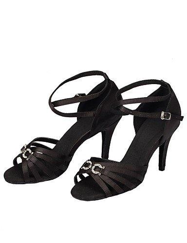 ShangYi Chaussures de danse ( Noir / Bleu / Violet ) - Non Personnalisables - Talon Aiguille - Cuir / Cuir Verni - Latine Purple