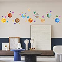 TOARTi The Solar System Wall Decals (35 Decals) Outer Space Wall Stickers Planet Galaxy Wall Art for Kids Nursery Bedroom Classroom