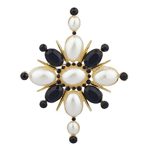 lux-accessoires-broche-fleur-fausse-perle-noir-soleil-floral-pierre-statement