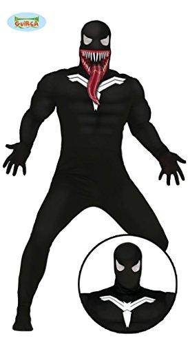 Ganzkörper Kostüme (Spinnen Superheld mit Fratze Ganzkörper Kostüm für Herren Gr. M/L,)