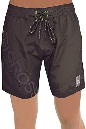 Herren Crosshatch Pacific Schwimm Shorts Netzfutter Surfen Strand Boardshorts - Magnet, XL