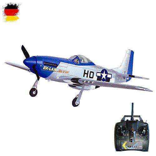 P-51B Mustang - RC Ferngesteuertes Flugzeug mit 2.4GHz-Technik, Flieger-Modellbau Kampfflugzeug-Design