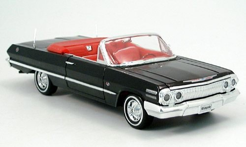 chevrolet-impala-convertible-black-1963-model-car-ready-made-welly-124