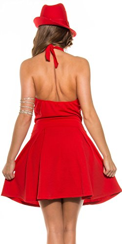 Sexy KouCla Neckholder Minikleid Glockenrock Koucla by In-Stylefashion SKU 0000K917701 Rot