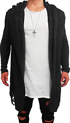 Oversize DESTROYED Designer Sweat Jacke Cardigan Hoody Pullover Shirt Herren Hoodie Longsleeve m NEU Kapuzenpullover long Sweatjacke skater hip hop Sweatshirt Pulli - 2
