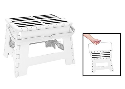 simplify-9-inch-folding-stool-with-convenient-carrying-handle-white