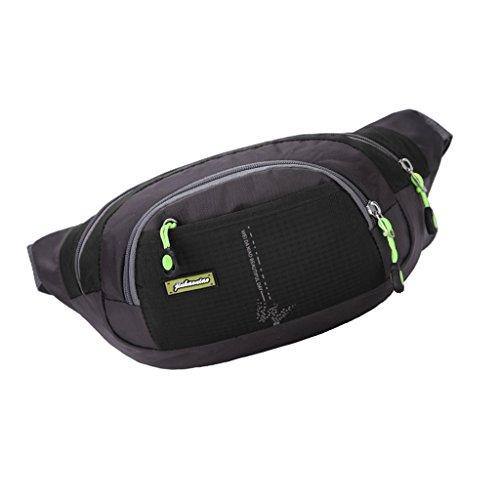 Wasserdichte Hüfttasche für Jogging Fitness Radfahren Fahrrad Motorrad MTB Bergsteigen Wandern Klettern Trekking... Outdoor Aktivitäten Schwarz