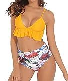 Best Unique Bikinis - TRESXS Womens High Waisted Bikini Set Swimsuit Ruffle Review