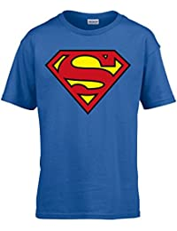 Superman Logo Blue Kids T-Shirt