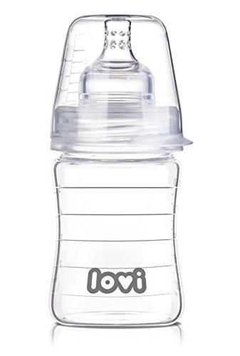 LOVI Pure - Biberón de cristal, 150 ml