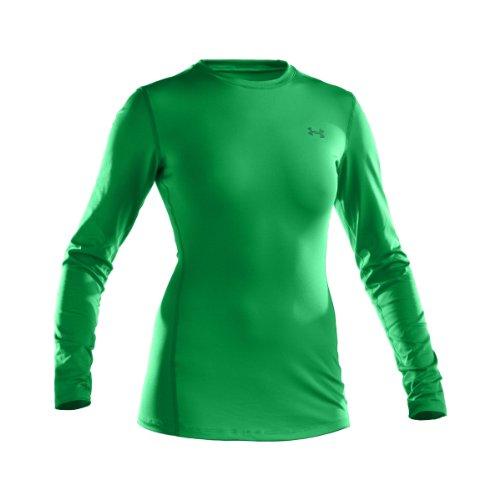 Under Armour ColdGear Fitted Crew Première couche de protection contre le froid femme Verde (Medium Green)
