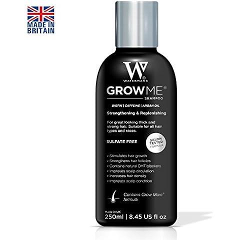 Miglior crescita dei capelli shampoo solfato libero, caffeina, biotina, olio di Argan, allantoina, rosmarino. Stimola la ricrescita dei capelli, aiuta a fermare la perdita di capelli, capelli crescono in fretta, Perdita di capelli trattamento per uomini e donne