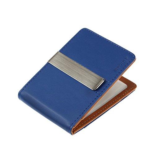 ECM09A09 Blau Braun Urban Smart Leder Geldb?rse Edelstahl Geldscheinklammer und 14 Kartenhalter Weihnachtsgeschenke Von Epoint