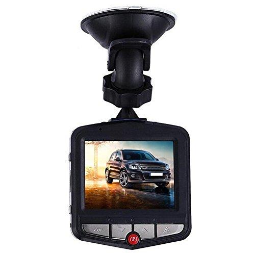 Prettygood7 Fischaugen-Auto-DVR-Kamera, Video-Recorder, Armaturenbrett-Cams, Full HD, mit eingebautem G-Sensor, Bewegungserkennung, Loop-Recorder, Nachtsicht, 6,1 cm (6,4 Zoll) TFT 1080P LCD 125° (Hd-videorecorder Recorder)