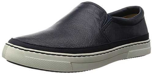ClarksBallof Step - Slip On con Imbottitura Leggera Uomo , Blu (Blau (Navy Leather)), 41,5