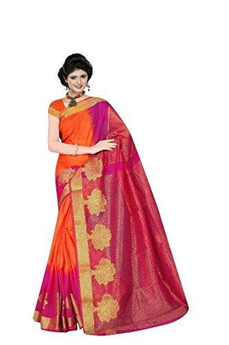 Saree for Women(2 Ton Art-Silk Saree)-Ethnic Wear-DI