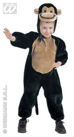 Kinder-Kostüm-Set Kleiner Plüsch-Affe, Größe 110