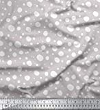 Soimoi Grau Seide Stoff Weiß dots Stoff Meterware 42 Zoll