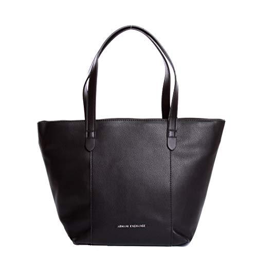 ARMANI EXCHANGE BORSA DONNA GIRL SHOPPER SHOPPING SPALLA BAG 942429 8A232 - Colore principale BLACK/BLACK