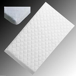 Gold Star Bedding® Ambassador Anti-allergenic Crib Mattress 76cm x 40cm, Microfibre Removable Washable Cover Square Corners