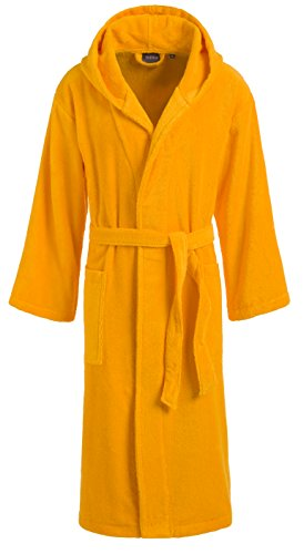 Egeria 011027 Dallas Unisex Bademantel, Baumwolle, 42 x 32 x 10 cm, Sunny gelb Sunny Yellow