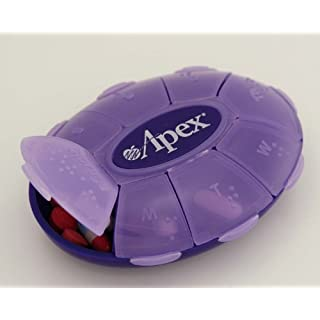 Weekly Pill Turtle By Apex Healthcare Products (Assorted Colors) by Apex Healthcare Products