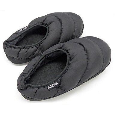 zhENfu donna pantofole & amp; flip-flops inverno Comfort informale di cotone tacco piatto Nero Fuchsia rosso verde blu Black