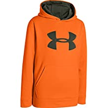Under Armour chicos 'Armour Fleece camuflaje Big Logo–Sudadera con capucha, X-Large, Blaze Orange/Thyme