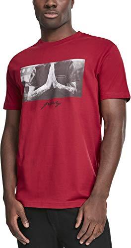 Herren Crewneck Tee (Mister Tee Herren T-Shirt Pray Tee, Rot (Ruby), Gr. XXL)
