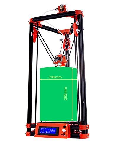 FLSUN 3d Drucker Delta Kossel Diy Kit mit großem 3D Druck Größe aktualisiert Nuzzle System Beheiztes Bett Auto Leveling (Linearführung plus) -
