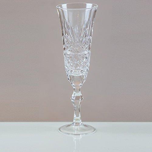 Victoria Kristall graufächerschwanz Champagner Flöten 24% geschliffenes Bleikristall 100% Handgefertigt (Set von 6) Cut Punch Bowl