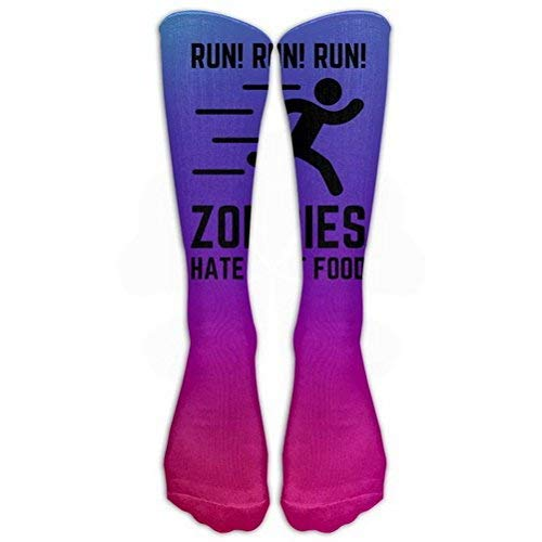Women Teens Casual Warm Winter Knee High Socks Zombies Hate Fast Food Great Quality Men 1 Pair Long Tube Stockings for Athletic Football