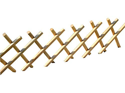 KENA Steckzaun aus Holz Garten Zaun Beetumrandung 100×30 cm Beet Einfassung Holz SU-ZN Zaun