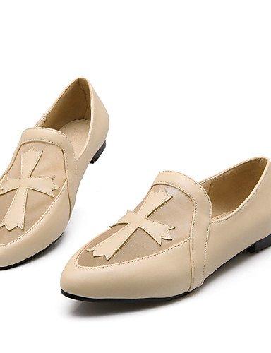 ZQ Scarpe Donna - Mocassini - Tempo libero / Formale / Casual - Comoda - Piatto - Tulle / Finta pelle - Nero / Rosa / Beige , beige-us5.5 / eu36 / uk3.5 / cn35 , beige-us5.5 / eu36 / uk3.5 / cn35 black-us6 / eu36 / uk4 / cn36