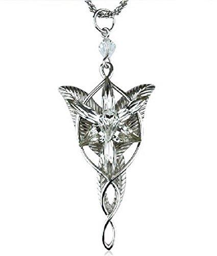 Atoy Arwen colgante Bañado en plata Señor de los anillos Elven Princess Arwen colgante de plata collar