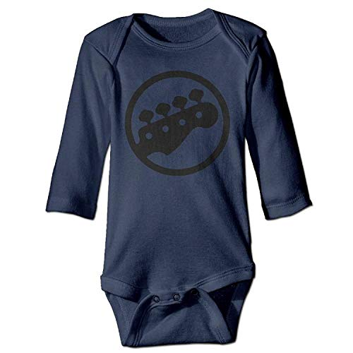MSGDF Unisex Infant Bodysuits Bass Tuning PEGS Baby Babysuit Long Sleeve Jumpsuit Sunsuit Outfit Navy -