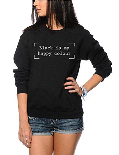 Nero È My Happy colore moda Hipster Moody-Gioventù e felpa da donna Black 7-8 Anni